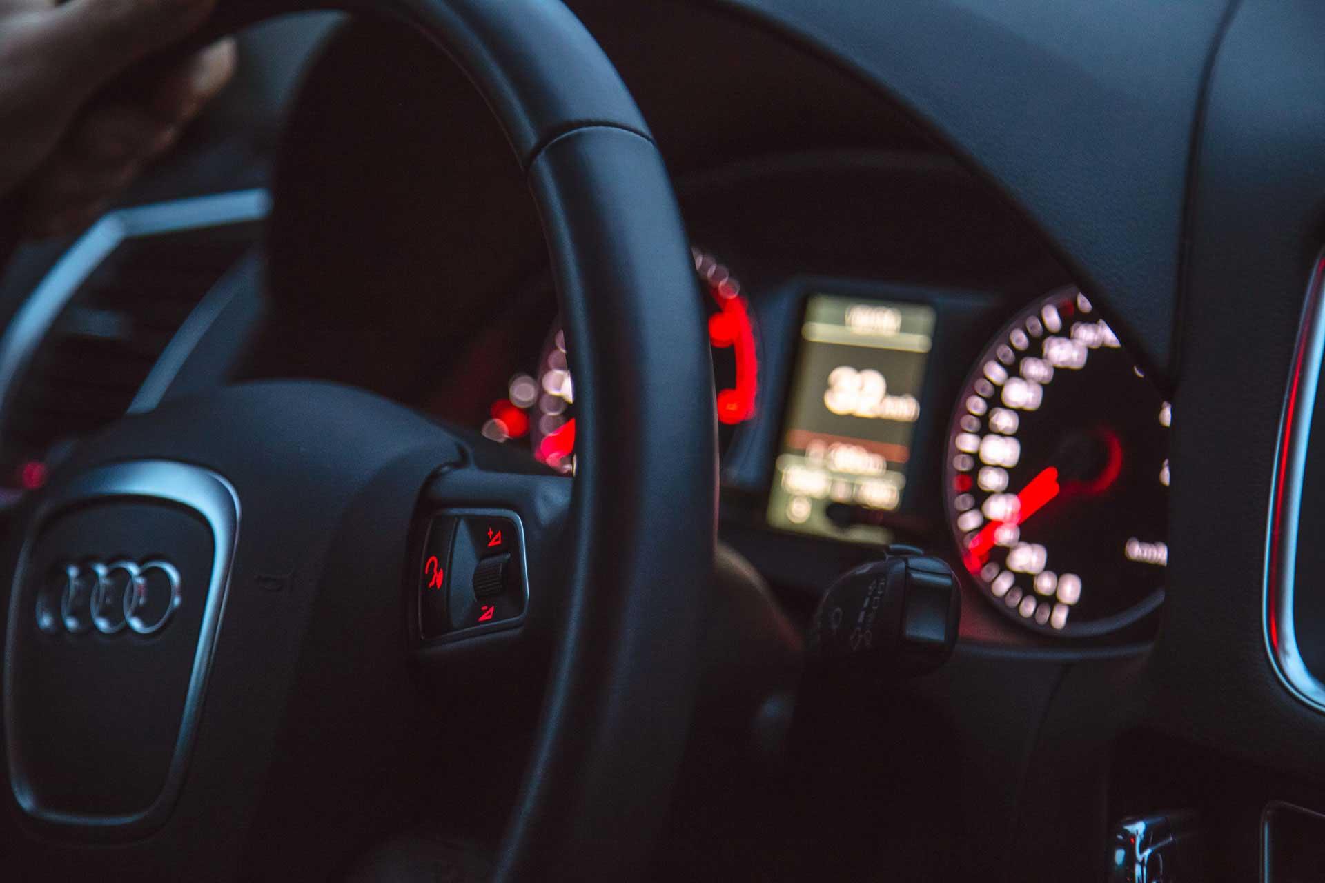 Armaturenbrett eines Audis